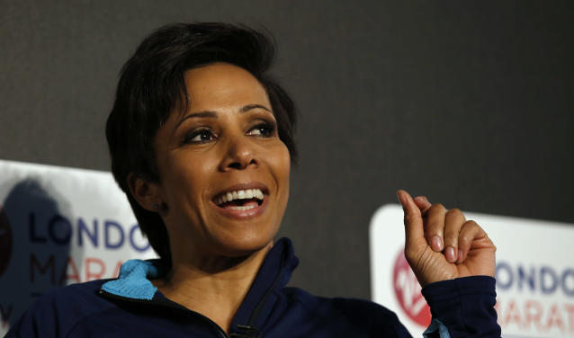 2016 Virgin Money London Marathon Preview: Dame Kelly Holmes during the press conference