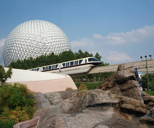 The monorail system has been in operation since 1971 and was extended to Epcot in 1982. Walt Disney World Resort has a 14.7-mile system services seven stations between Epcot, Magic Kingdom and three resorts: Disney's Contemporary Resort, Disney's Grand Floridian Resort and Disney's Polynesian Village Resort. On a typical day, more than 150,000 guests use the monorail. (Getty Images)