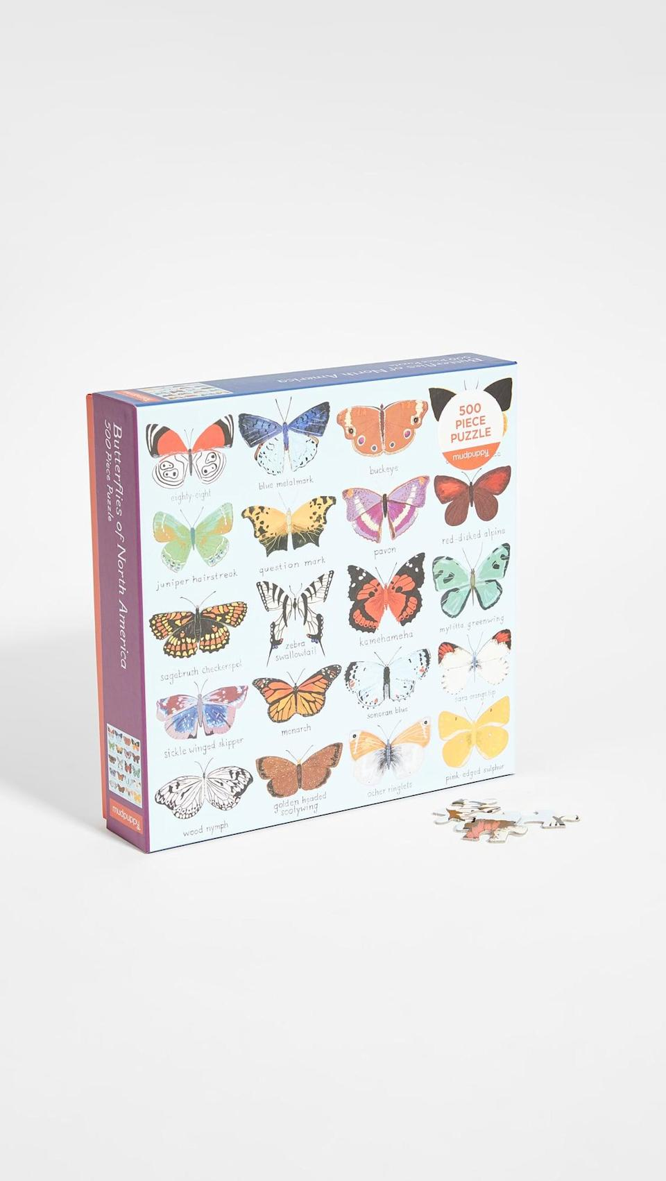 <p>This holiday season, they'll be preoccupied with this <span>Shopbop @Home Butterflies of North America 500 Piece Puzzle</span> ($14).</p>