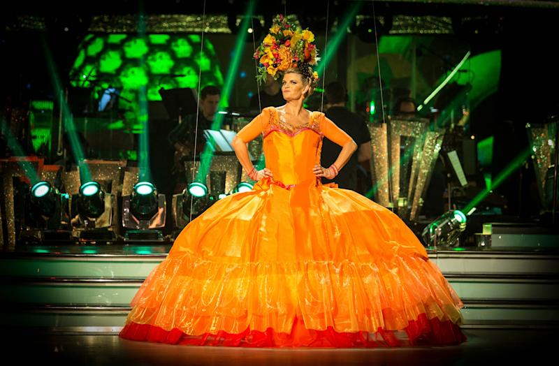 <p>The TV star scored just one point from judge Craig Revel Horwood.</p>