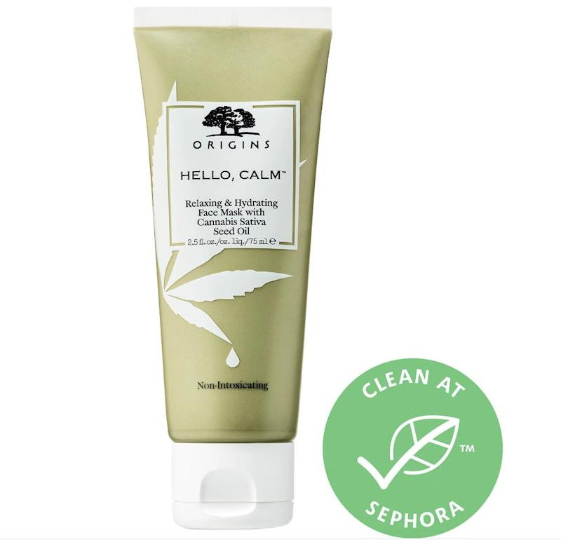 "This <a href=""https://fave.co/2AUl983""><strong>hydrating face mask</strong></a> is infused with natural cannabis sativa seed oil that&rsquo;s rich in essential omega-6 and omega-3 acids to calm skin, reduce irritation and de-stress the senses. <br />&lt;br&gt;&nbsp;<strong>Rating</strong>: 5-star&nbsp;<br />&lt;br&gt;&nbsp;<strong>Reviews</strong>: 90<br />&lt;br&gt;&nbsp;<strong>Loves</strong>: 10,000&nbsp;<br />&lt;br&gt;&nbsp;<a href=""https://fave.co/2AUl983""><strong>Get it here</strong></a>"
