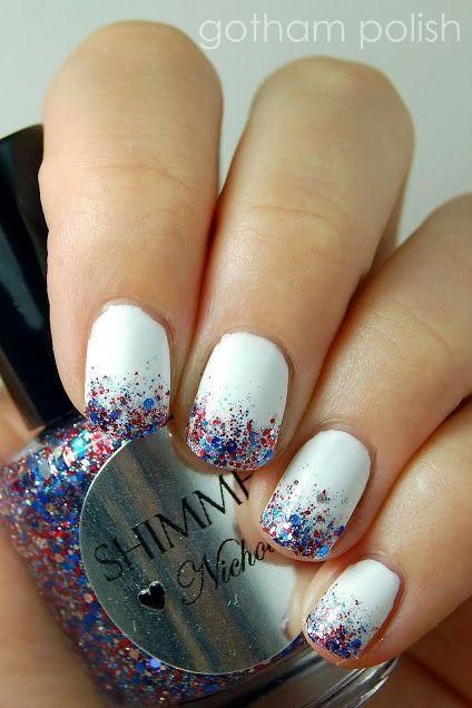 "<p>Get inspired by the 4th of July fireworks and create a mini glitter explosion at your fingertips. It's easy to create and fun to wear! </p><p><a class=""link rapid-noclick-resp"" href=""https://www.amazon.com/ZOYA-Polish-White-Fluid-Ounce/dp/B0006PJRVM/?tag=syn-yahoo-20&ascsubtag=%5Bartid%7C10055.g.1278%5Bsrc%7Cyahoo-us"" rel=""nofollow noopener"" target=""_blank"" data-ylk=""slk:SHOP WHITE POLISH"">SHOP WHITE POLISH</a></p><p><em><a href=""https://www.instagram.com/gothampolish/"" rel=""nofollow noopener"" target=""_blank"" data-ylk=""slk:See more on Gotham Polish »"" class=""link rapid-noclick-resp"">See more on Gotham Polish »</a></em></p>"
