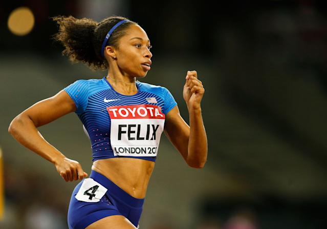 "<a class=""link rapid-noclick-resp"" href=""/olympics/rio-2016/a/1127176/"" data-ylk=""slk:Allyson Felix"">Allyson Felix</a> on Nike: 'If I couldn't secure these protections, who could?'"