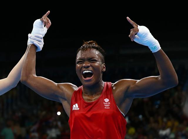 2016 Rio Olympics - Boxing - Final - Women's Fly (51kg) Final Bout 267 - Riocentro - Pavilion 6 - Rio de Janeiro, Brazil - 20/08/2016. Nicola Adams (GBR) of Britain celebrates after winning her bout. REUTERS/Peter Cziborra FOR EDITORIAL USE ONLY. NOT FOR SALE FOR MARKETING OR ADVERTISING CAMPAIGNS.