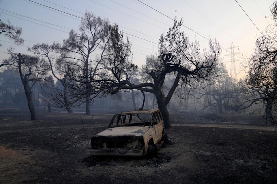 Greece Wildfire (Copyright 2021 The Associated Press. All rights reserved)