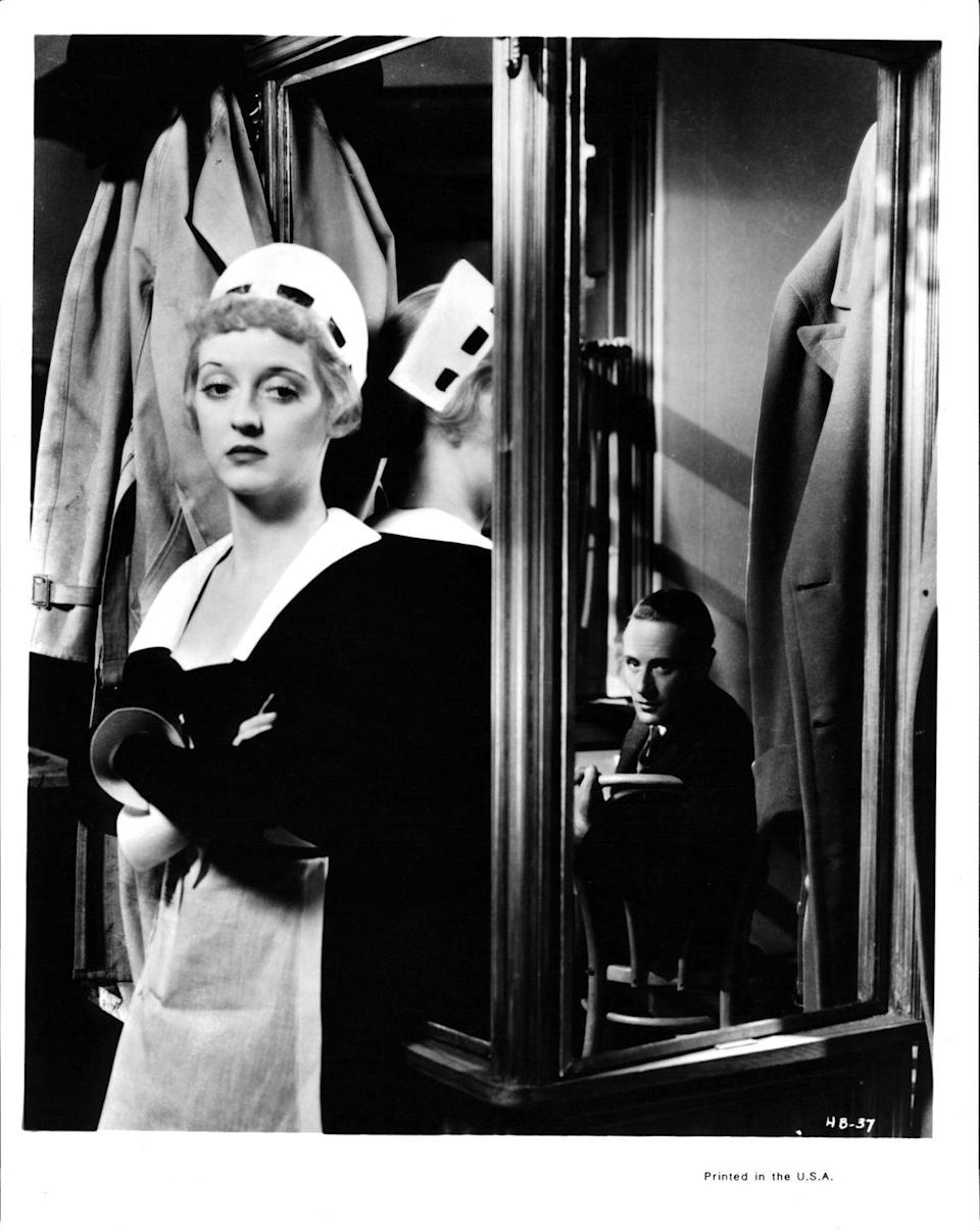 <p>Here, Davis is pictured in a scene from the film <em>Of Human Bondage </em>(1934). Her performance was critically acclaimed, and was regarded as one of her early breakthrough roles.</p>