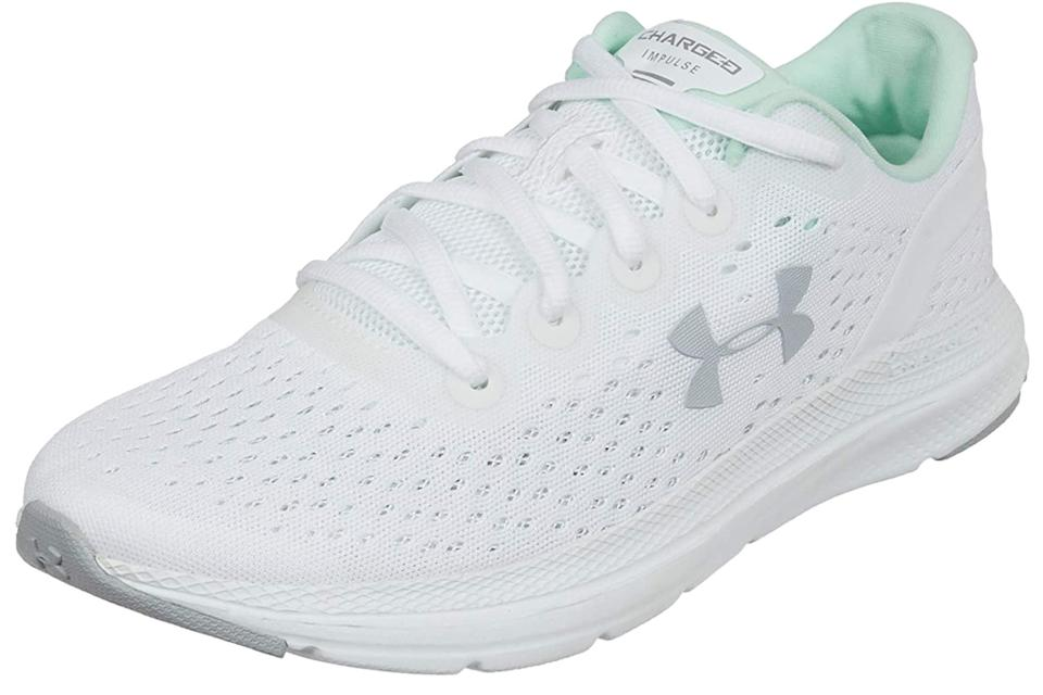 Under Armour, white sneakers