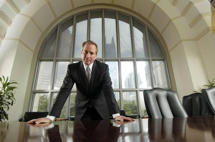 "Atlanta attorney Lin Wood, photographed at his office in February 2007. Before he was banned on Twitter, Wood wrote that Silva & Silva ""have worked long hours to help me over the last several weeks"" as he worked to help former President Donald Trump overturn the results of the 2020 election in Georgia."