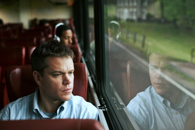 "This undated publicity film image provided by Focus Features shows Matt Damon starring as Steve Butler in Gus Van Sant's contemporary drama, ""Promised Land,"" a Focus Features release. TV's ""House of Cards"" and the movie ""Promised Land"" are being recognized for their eco-friendly messages. The Netflix show and the Focus Features film were honored by the Environmental Media Association Saturday, Oct. 19, 2013, at its 23rd annual awards presentation. (AP Photo/Focus Features, Sam Jones)"