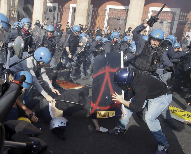 Austerity protests stall several European nations