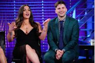 """<p>The cast doesn't get to see the episodes before providing their commentary. Lala Kent revealed in 2019 that she <a href=""""https://realityblurb.com/2019/03/25/jax-taylor-and-lala-kent-reveal-10-vanderpump-rules-show-secrets-dish-on-show-contracts-if-they-still-work-at-sur-and-new-season/"""" rel=""""nofollow noopener"""" target=""""_blank"""" data-ylk=""""slk:taped her final confessional one week"""" class=""""link rapid-noclick-resp"""">taped her final confessional one week</a> before production wrapped on the season, meaning she was still in the throws of filming when she was answering production's questions. </p>"""