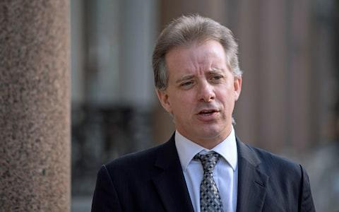 Christopher Steele, the former MI6 agent who compiled a dossier on Donald Trump, was cited in the FBI's application to monitor Trump's advisers  - Credit: Victoria Jones/PA Wire