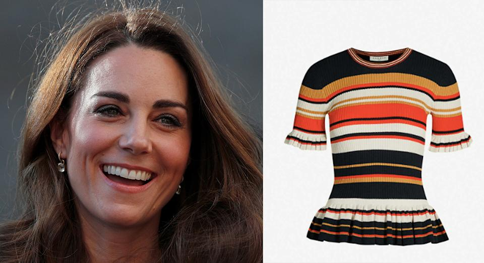 Kate Middleton wore a Sandro top that is still for sale [Photo: Getty]