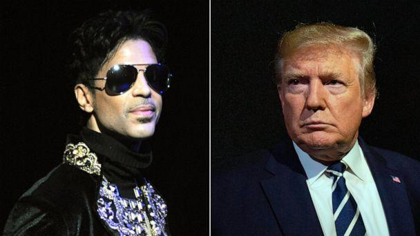 PHOTO: Left: Musician Prince, Right: President Donald Trump (Getty Images)