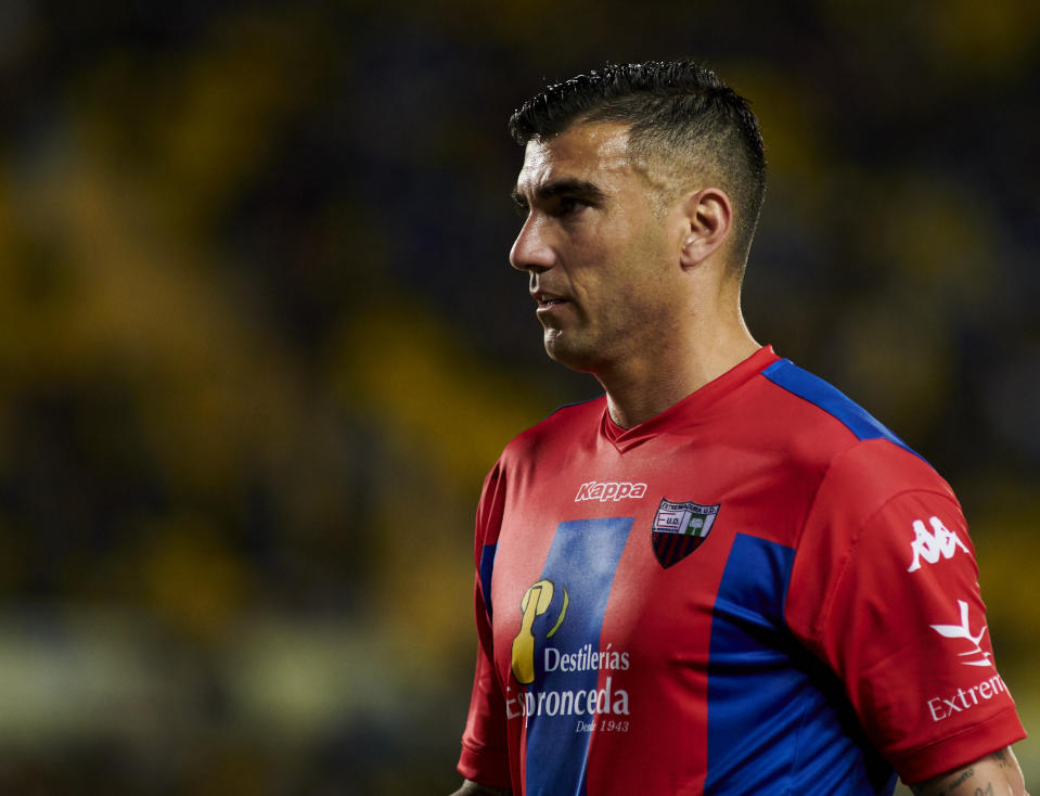 Jose Antonio Reyes, playing for his final club Extremadura on March 03, 2019 in Las Palmas de Gran Canaria, Spain. (Photo by Quality Sport Images/Getty Images)