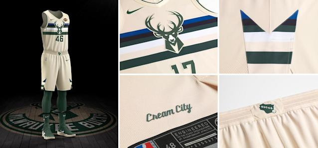 Milwaukee Bucks City uniform. (Nike)