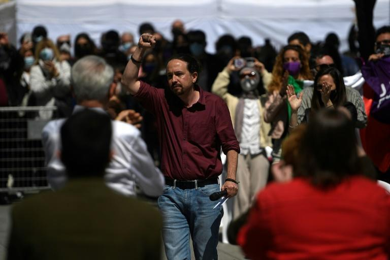 Podemos leader Pablo Iglesias is among politicians who have received death threats during the election campaign