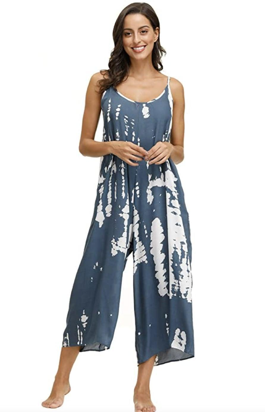 <p>Have a beach day coming up? Grab the sunscreen, straw hat, wine cooler, and slip into this eye-catching <span>Wexcen Printed Jumpsuit</span> ($23 - $27). The fabric looks breathable and lightweight, perfect for laying under the sun as you hear the waves crashing.</p>