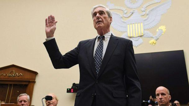 PHOTO: Former Special Prosecutor Robert Mueller is sworn in for his testimony before Congress on July 24, 2019, in Washington, D.C. (Saul Loeb/AFP/Getty Images)