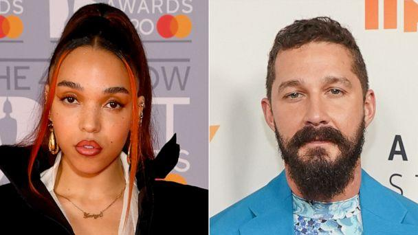 PHOTO: In this Feb. 18, 2020, file photo, FKA Twigs attends The BRIT Awards 2020 in London. Shia LaBeouf attends the premiere in Hollywood, Calif., Nov. 5, 2019. (Getty Images, FILE)