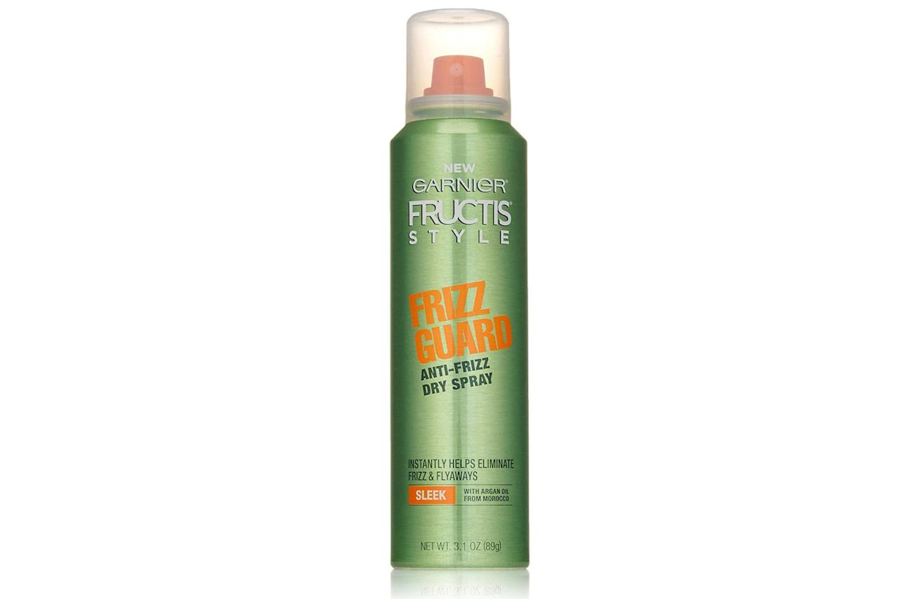 """<p><strong>Buy It: $4; </strong><a href=""""https://www.amazon.com/Garnier-Fructis-Style-Frizz-Anti-Frizz/dp/B01MDQFUXI?ie=UTF8&camp=1789&creative=9325&linkCode=as2&creativeASIN=B01MDQFUXI&tag=southlivin04-20&ascsubtag=d41d8cd98f00b204e9800998ecf8427e"""" target=""""_blank"""">amazon.com</a></p> <p> For less than the price of a cup of coffee, you can eliminate frizz and conceal pesky flyaways with this lightweight spray. </p>"""
