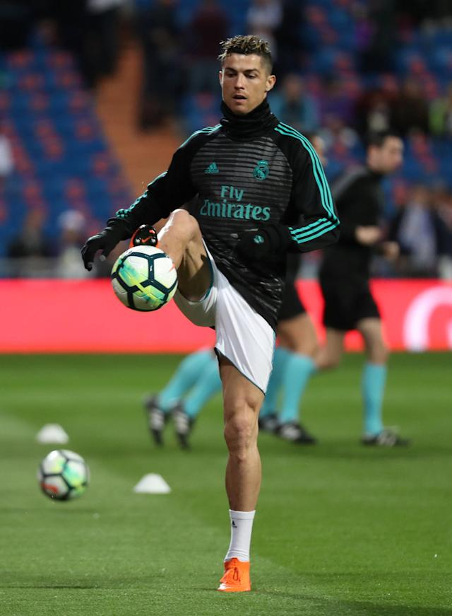 Soccer Football - La Liga Santander - Real Madrid vs Girona - Santiago Bernabeu, Madrid, Spain - March 18, 2018 Real Madrid's Cristiano Ronaldo before the match REUTERS/Sergio Perez