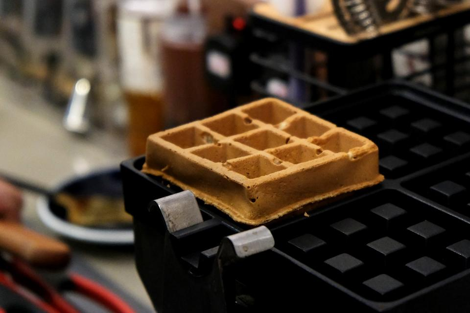 Coffee Waffle with Whiskey Syrup($60)