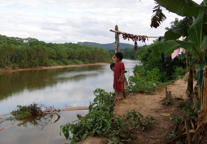 """<span class=""""caption"""">Tsimane children look out over the Maniqui River, in the Bolivian Amazon.</span> <span class=""""attribution""""><span class=""""source"""">Michael Gurven</span>, <a class=""""link rapid-noclick-resp"""" href=""""http://creativecommons.org/licenses/by-nd/4.0/"""" rel=""""nofollow noopener"""" target=""""_blank"""" data-ylk=""""slk:CC BY-ND"""">CC BY-ND</a></span>"""