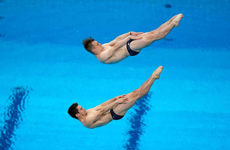 Great Britain's Daniel Goodfellow and Jack Laugher finished seventh in the men's synchronised 3m springboard final (Mike Egerton/PA) (PA Wire)