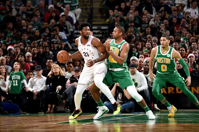 Joel Embiid and the 76ers once again came up short against the Celtics. (Getty Images)