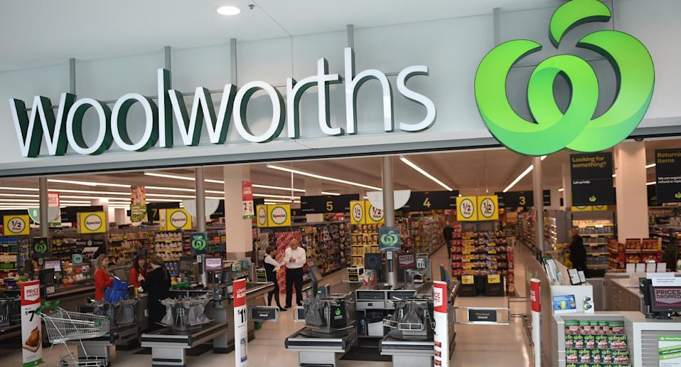 Woolworths pictured as it announces Christmas range of Australian made products.