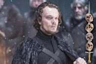 <p>In the first episode, Theon was an insufferably pompous little jerk, but six seasons have left him humbled — and several extremities lighter. After all that his sister, Yara, has done for him, it seems only fitting that he leap in front of an arrow meant for her to finish things off.<br><br>(Photo Credit: HBO) </p>