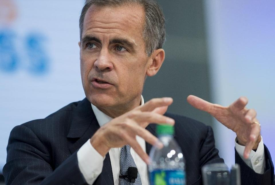 Mark Carney, Governor of the Bank of England and Chair of the Financial Stability Board, speaks during a CNN Debate on the Global Economy at the 2016 Annual Meetings of the International Monetary Fund and the World Bank Group (AFP Photo/Saul Loeb)