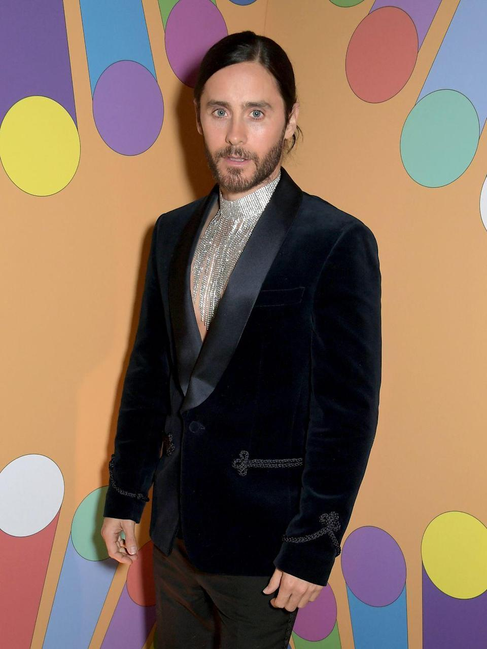 <p>Jared, whose face literally hasn't aged at all (I NEED TO KNOW HIS SKINCARE ROUTINE!), went very ~fashion~ and is now a staple on the Met Gala red carpet and in Gucci ads. He's also the lead singer of the rock band Thirty Seconds to Mars and is still acting—you may have heard that he played the Joker in a little movie called <em>Suicide Squad</em>? </p>