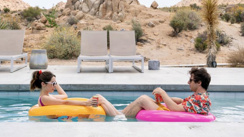 Cristin Milioti and Andy Samberg in 'Palm Springs.'