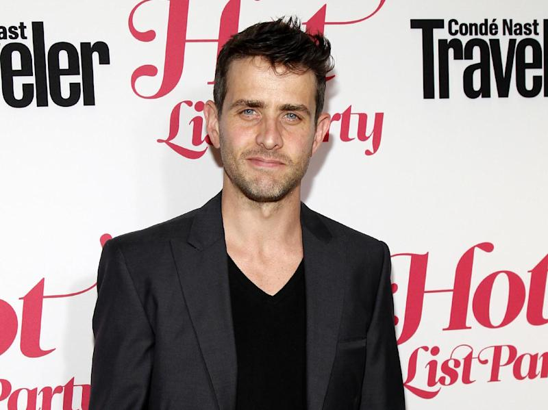 """FILE - This April 12, 2012 file photo shows singer Joey McIntyre, from the Boston group New Kids on the Block, at the Conde Nast Traveler Hot List Party at The Presidential Suite of Hotel Bel-Air in Los Angeles. McIntyre tweets that he's OK after two bombs exploded near the finish line of the Boston marathon minutes after he completed the 26.2-mile run. The 40-year-old tweets Monday that """"there was an explosion by the finish line about 5 minutes after I finished."""" Two bombs exploded near the finish line of the Boston Marathon, killing two people and injuring more than 70 others.  (AP Photo/Danny Moloshok, file)"""