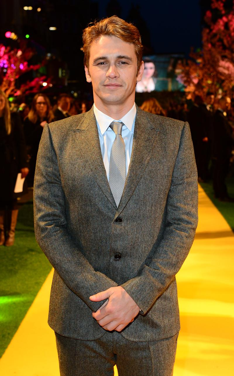 James Franco attends Walt Disney Pictures European Premiere of 'Oz: The Great And Powerful' at the Empire Leicester Square in London on Thursday, Feb. 28, 2013. (Jon Furniss/Invision for Disney/AP)