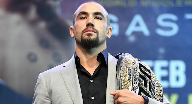 UFC middleweight champion Robert Whittaker's unflappable nature is just one reason why he's on a nine-fight winning streak. (Getty Images)