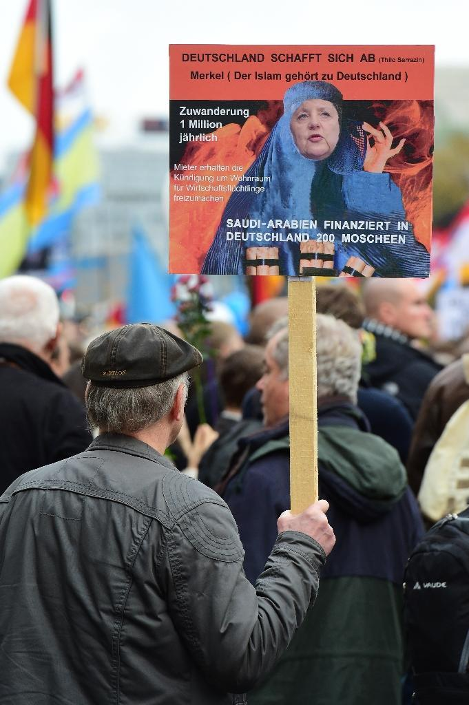 The Alternative for Germany (AfD) became the third-biggest party in Hesse, with support reaching 13.2 percent (AFP Photo/John MacDougall)