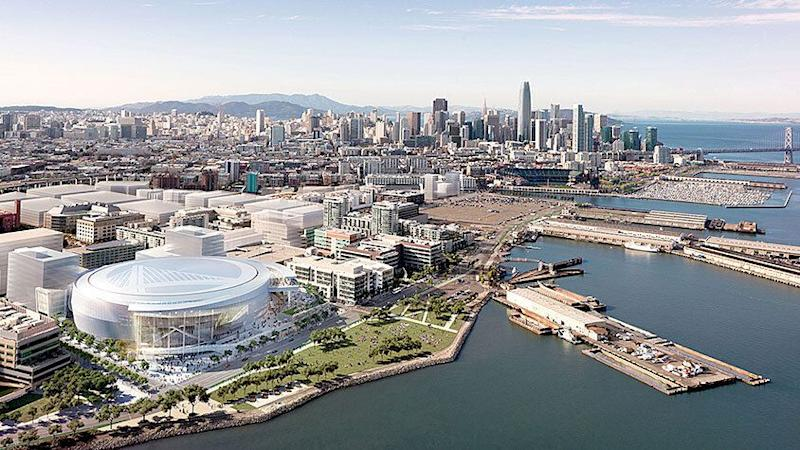 This September, Mission Bay will become the official home of the NBA's Golden State Warrior with the opening of the Chase Center this September. Source: Chase