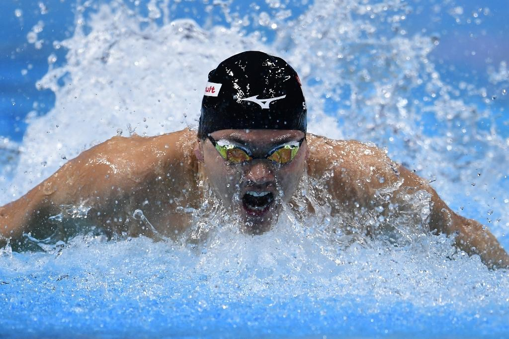 Singapore's Schooling Joseph competes in the men's 100m butterfly semi-final during the swimming competition at the 2017 FINA World Championships in Budapest, on July 28, 2017. (AFP Photo/Martin BUREAU)