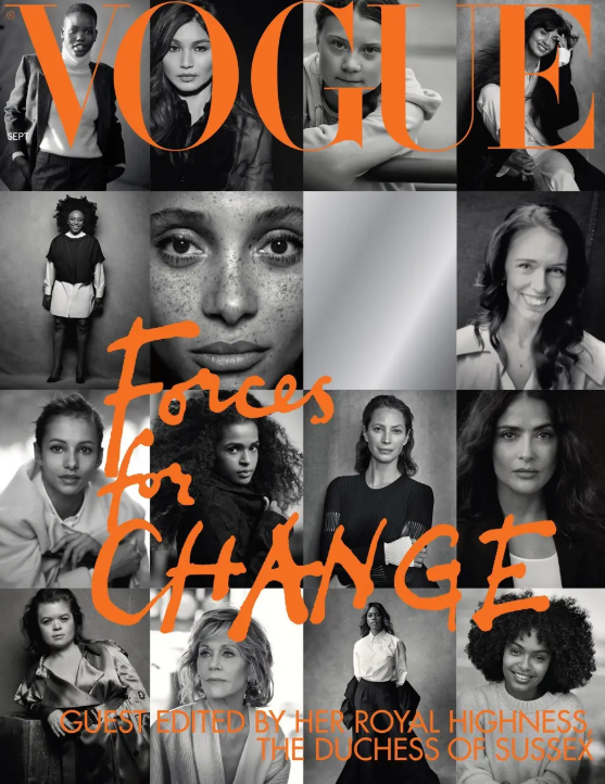 Meghan Markle guest-edited British Vogue's 'Forces For Change' issue