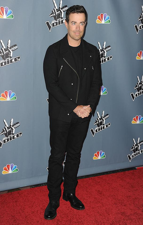 """Carson Daly arrives at the screening of NBC's """"The Voice"""" Season 4 at TCL Chinese Theatre on March 20, 2013 in Hollywood, California."""