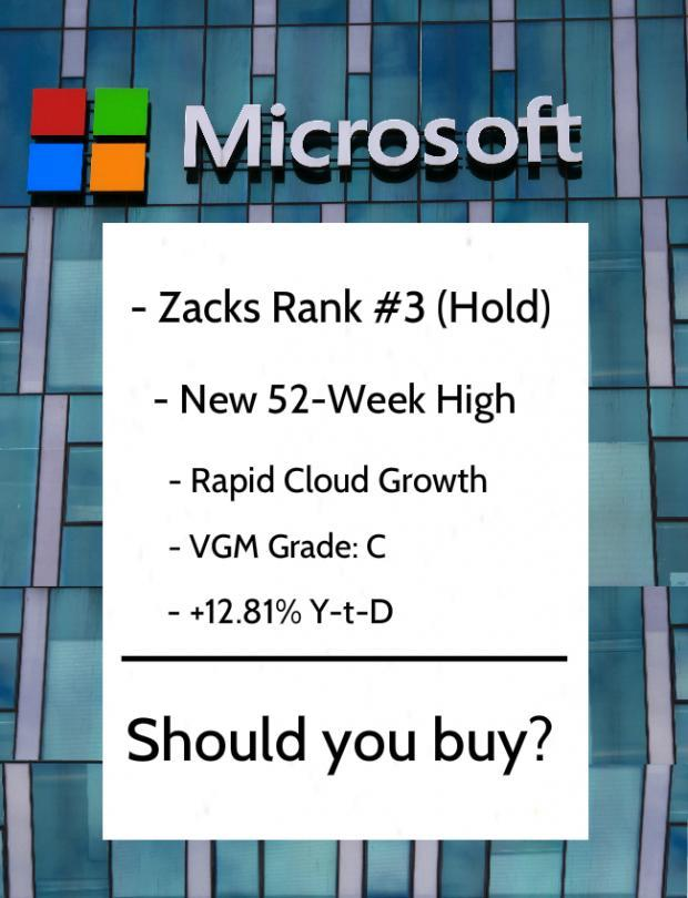 Microsoft Msft Stock Hits New Highs Should You Buy
