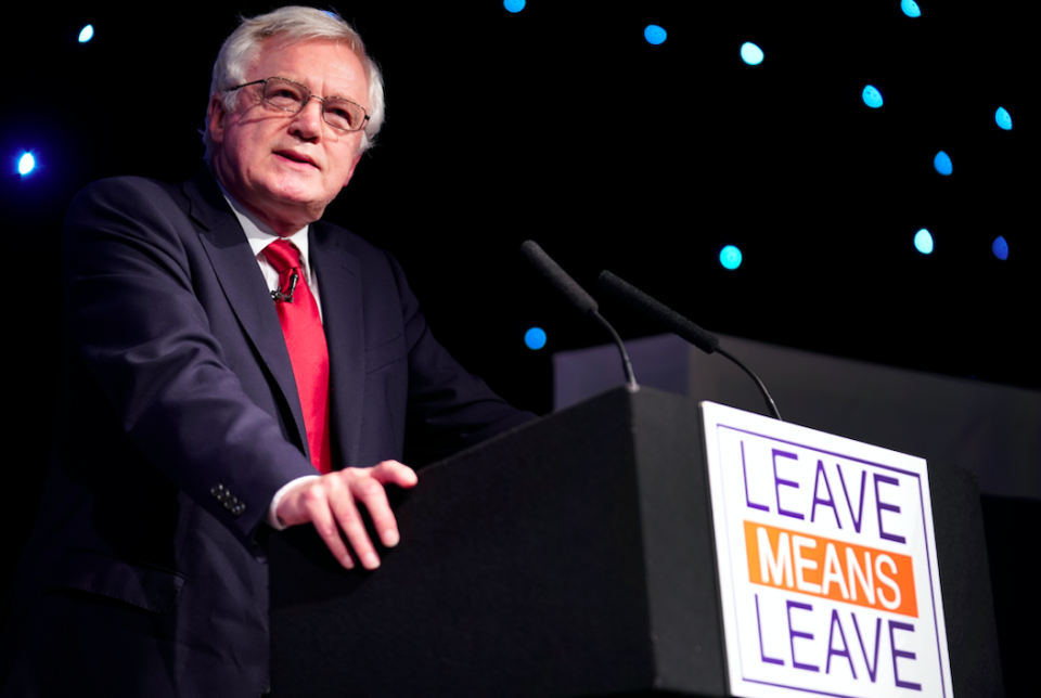 <em>Mr Davis criticised the Prime Minister's Chequers plans after resigning as Brexit Secretary (Getty)</em>