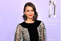 <p>Take a cue from this classic asymmetrical bob 'do on actress <strong>Nina Dobrev. </strong> Her hair is angled to the back, emphasizing her facial features and allowing for easy upkeep. </p>
