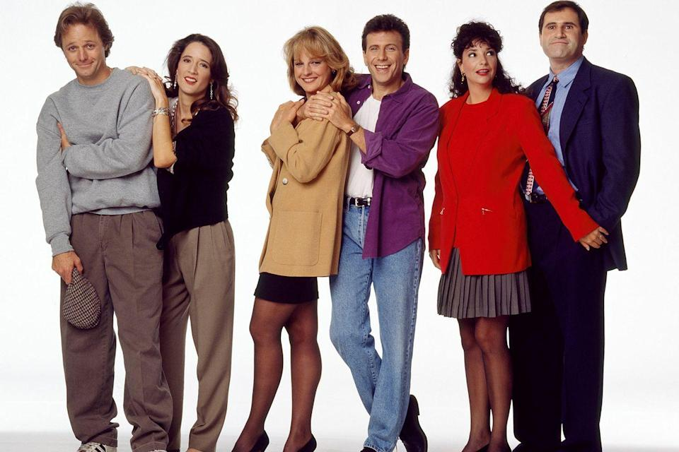 """<p>There was a big push from Paul Reiser's team for the show to be known as <em>Reiser</em> or <em>The Paul Reiser Show</em>, but network execs weren't into it because the show was about a couple. It was cast member Richard Kind who came up with <em>Mad About You</em> in the summer before <a href=""""https://www.womansday.com/life/entertainment/a60967/tv-marathon-winter-schedule/"""" rel=""""nofollow noopener"""" target=""""_blank"""" data-ylk=""""slk:the show premiered"""" class=""""link rapid-noclick-resp"""">the show premiered</a>.</p>"""