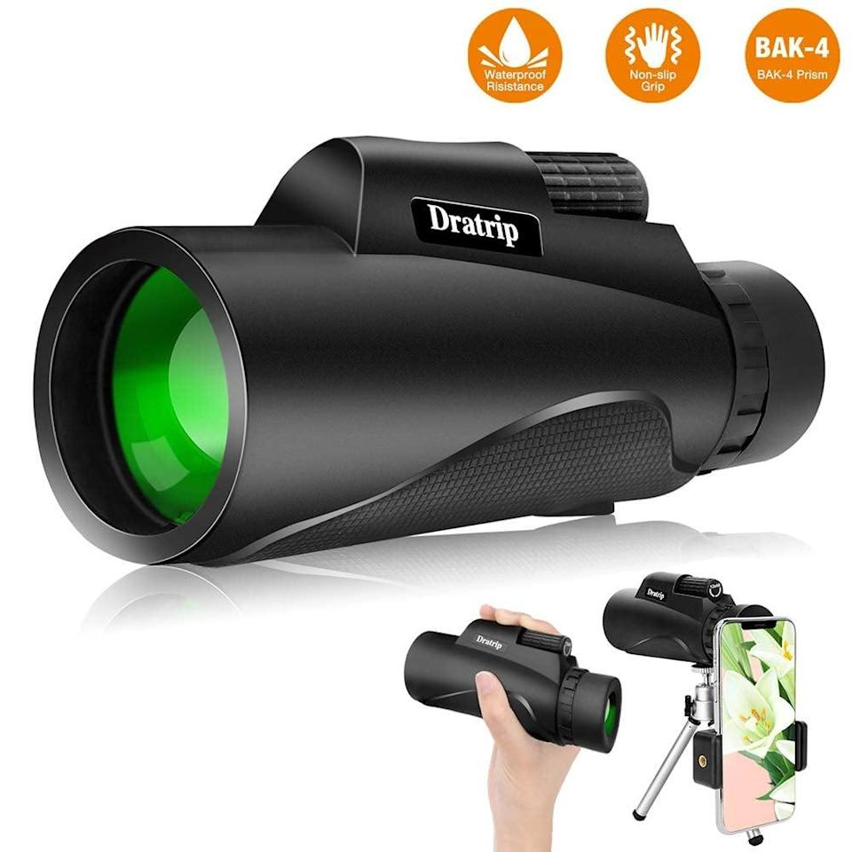 "<p>You can end connect this <a href=""https://www.popsugar.com/buy/Monocular-Telescope-545958?p_name=Monocular%20Telescope&retailer=amazon.com&pid=545958&price=24&evar1=savvy%3Auk&evar9=47175844&evar98=https%3A%2F%2Fwww.popsugar.com%2Fsmart-living%2Fphoto-gallery%2F47175844%2Fimage%2F47176088%2FMonocular-Telescope&list1=shopping%2Cgadgets%2Cgifts%20for%20men&prop13=api&pdata=1"" class=""link rapid-noclick-resp"" rel=""nofollow noopener"" target=""_blank"" data-ylk=""slk:Monocular Telescope"">Monocular Telescope</a> ($24) to your iPhone.</p>"