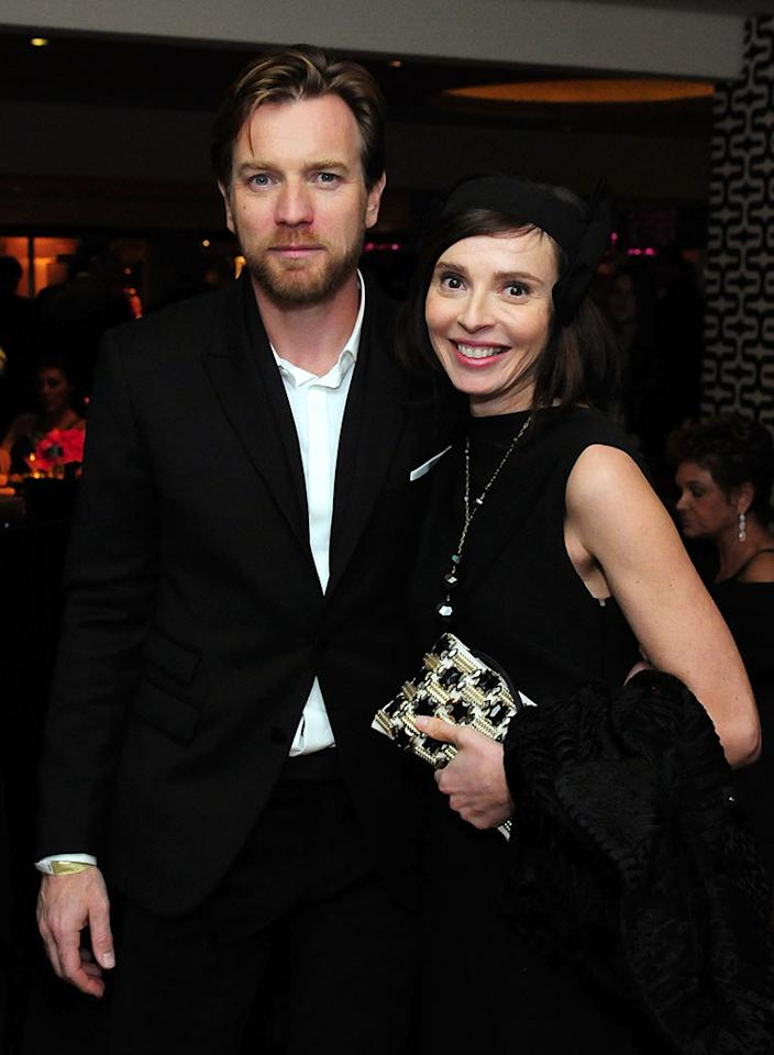 Ewan McGregor and Eve Mavrakis attends HBO's Official Golden Globe Awards After Party held at Circa 55 Restaurant at The Beverly Hilton Hotel on January 13, 2013 in Beverly Hills, California.