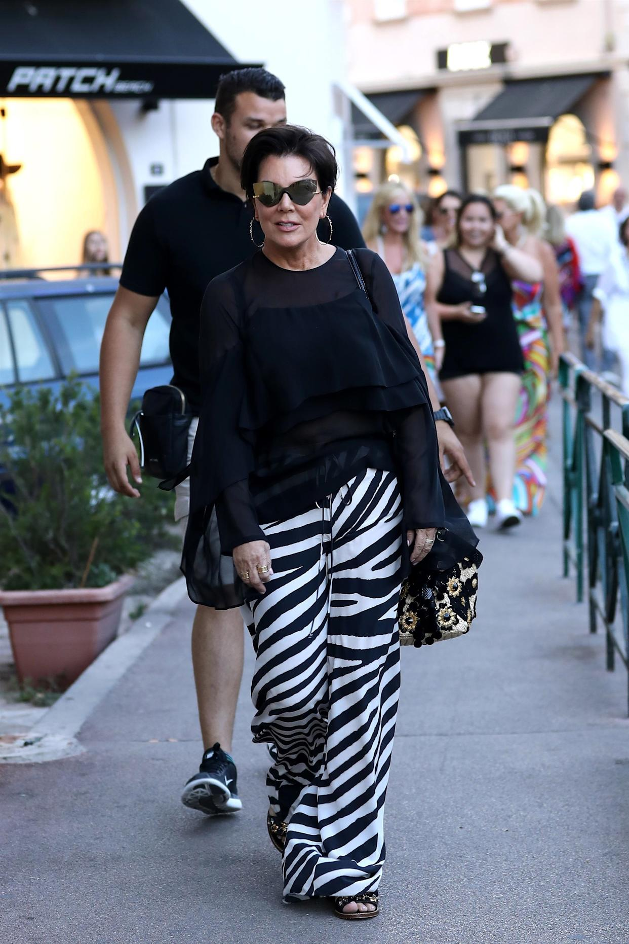 ** RIGHTS: ONLY UNITED STATES, CANADA ** Saint-Tropez, FRANCE  - TV personality Kris Jenner was seen doing shopping while on holiday in Saint-Tropez, France.Pictured: Kris JennerBACKGRID USA 10 JULY 2017 BYLINE MUST READ: Best Image / BACKGRIDUSA: +1 310 798 9111 / usasales@backgrid.comUK: +44 208 344 2007 / uksales@backgrid.com*UK Clients - Pictures Containing ChildrenPlease Pixelate Face Prior To Publication*